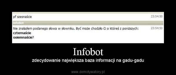 Infobot – zdecydowanie największa baza informacji na gadu-gadu