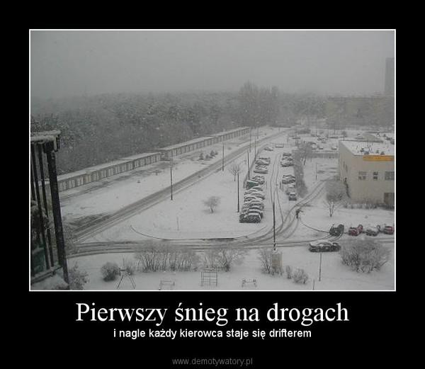 Pierwszy śnieg na drogach – i nagle każdy kierowca staje się drifterem
