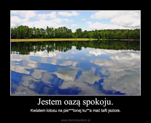 Jestem oazą spokoju. – Kwiatem lotosu na pie***lonej ku**a mać tafli jeziora.
