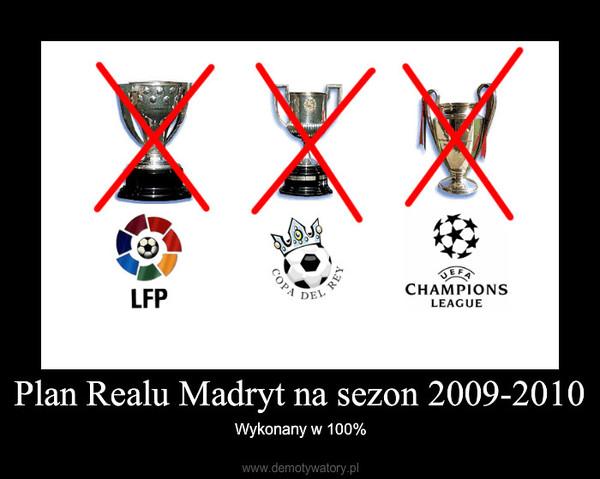 Plan Realu Madryt na sezon 2009-2010 – Wykonany w 100%