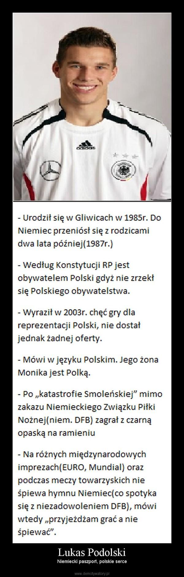 Lukas Podolski – Niemiecki paszport, polskie serce