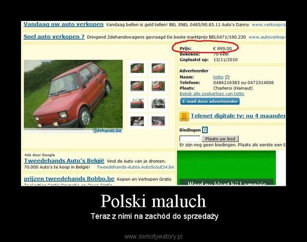 Polski maluch –  Teraz z nimi na zachód do sprzedaży