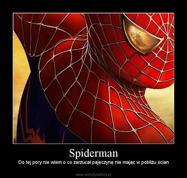Spiderman – Do tej pory nie wiem o co zarzucał pajęczynę nie mając w pobliżu ścian