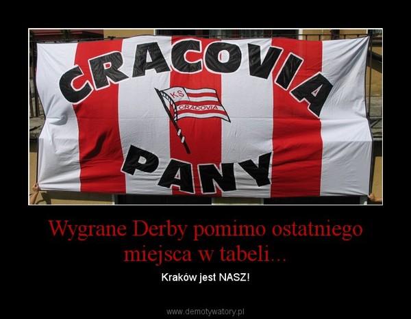 Wygrane Derby pomimo ostatniego miejsca w tabeli... – Kraków jest NASZ!