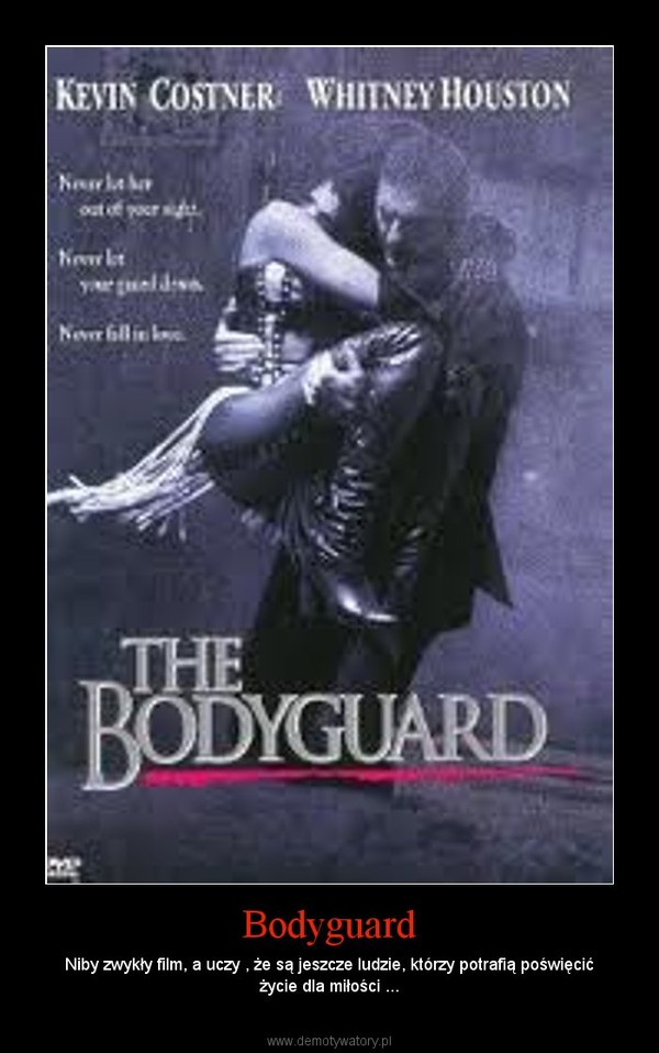 Bodyguard – Niby zwykły film, a uczy , że są jeszcze ludzie, którzy potrafią poświęcić życie dla miłości ...