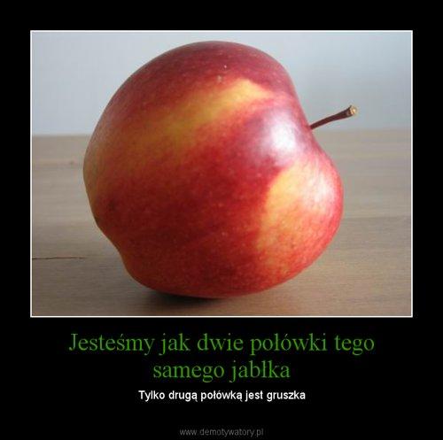 Jesteśmy jak dwie połówki tego samego jabłka