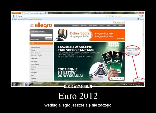 Euro 2012 – według allegro jeszcze się nie zaczęło