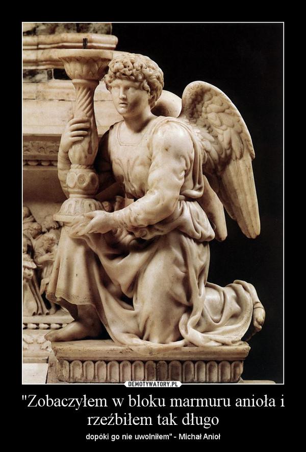 """""""Zobaczyłem w bloku marmuru anioła i rzeźbiłem tak długo – dopóki go nie uwolniłem"""" - Michał Anioł"""