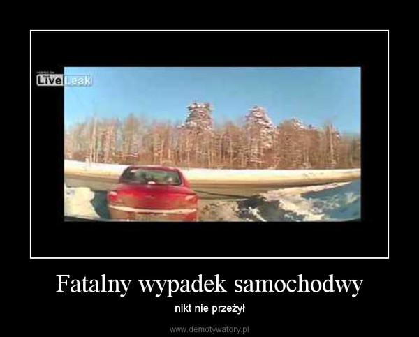 Fatalny wypadek samochodwy – nikt nie przeżył