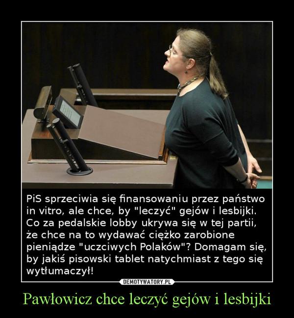 Pawłowicz chce leczyć gejów i lesbijki –