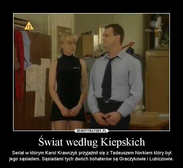 Świat według Kiepskich – Serial w którym Karol Krawczyk przyjaźnił się z Tadeuszem Norkiem który był jego sąsiadem. Sąsiadami tych dwóch bohaterów są Graczykowie i Lubiczowie.
