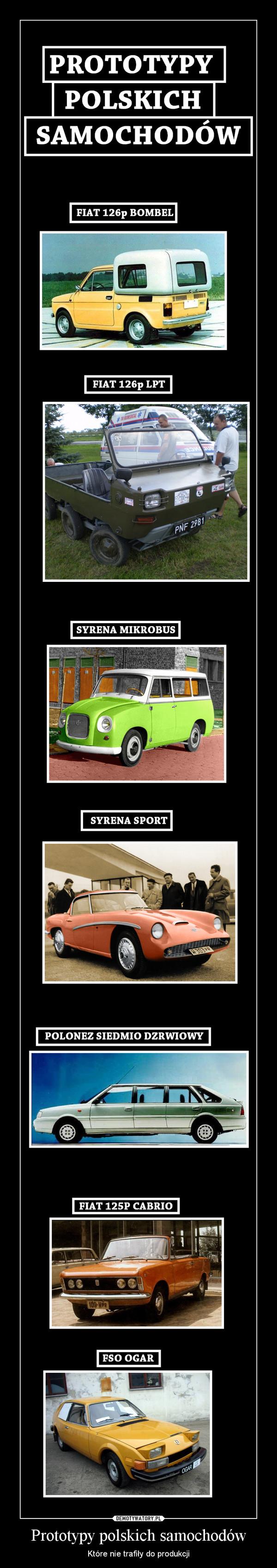 Prototypy polskich samochodów – Które nie trafiły do produkcji