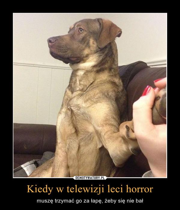 Kiedy w telewizji leci horror – muszę trzymać go za łapę, żeby się nie bał