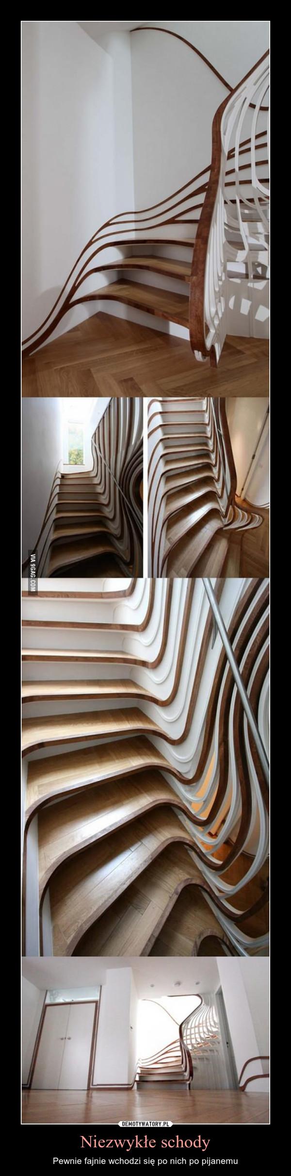 Niezwykłe schody – Pewnie fajnie wchodzi się po nich po pijanemu