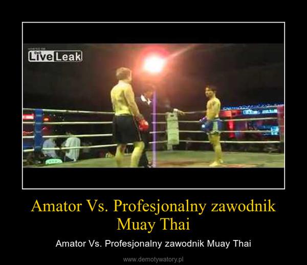 Amator Vs. Profesjonalny zawodnik Muay Thai – Amator Vs. Profesjonalny zawodnik Muay Thai