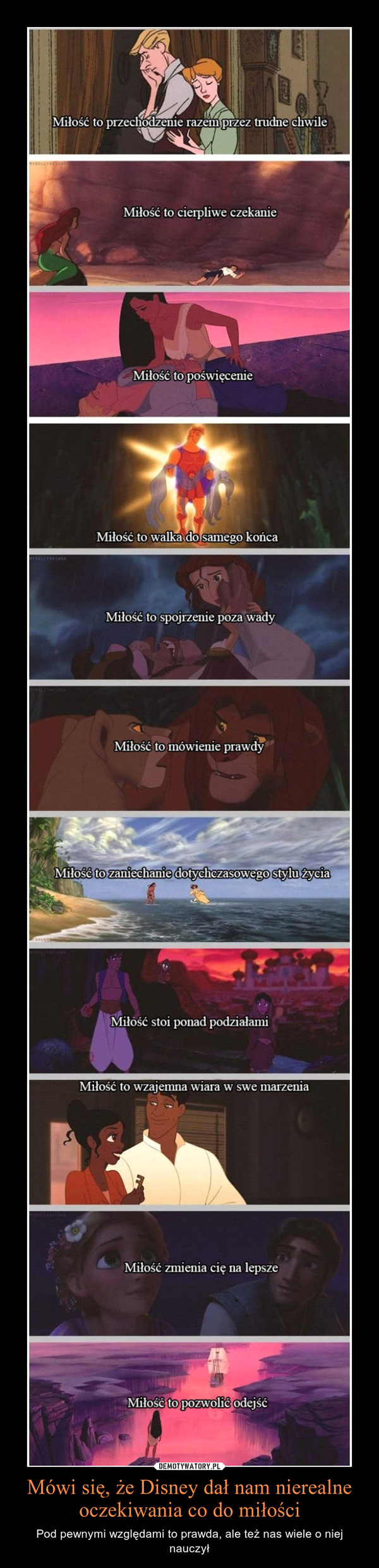 Mówi się, że Disney dał nam nierealne oczekiwania co do miłości – Pod pewnymi względami to prawda, ale też nas wiele o niej nauczył