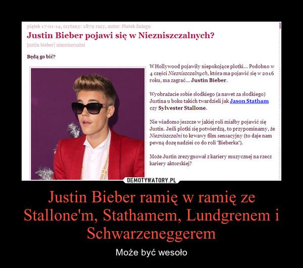 Justin Bieber ramię w ramię ze Stallone'm, Stathamem, Lundgrenem i Schwarzeneggerem – Może być wesoło