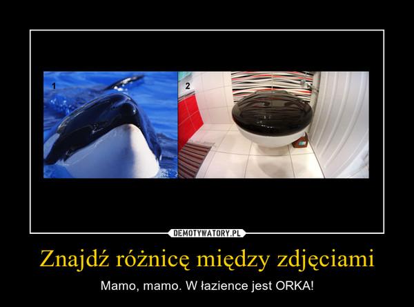 Znajdź różnicę między zdjęciami – Mamo, mamo. W łazience jest ORKA!