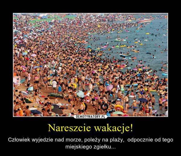 Nareszcie wakacje! – Człowiek wyjedzie nad morze, poleży na plaży,  odpocznie od tego miejskiego zgiełku...