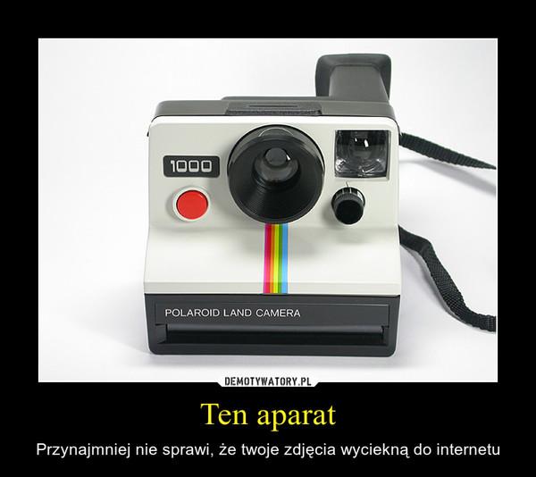 Ten aparat – Przynajmniej nie sprawi, że twoje zdjęcia wyciekną do internetu