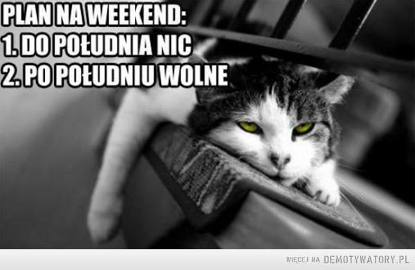 Plan na weekend –