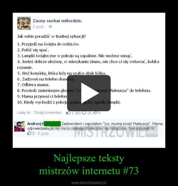 Najlepsze tekstymistrzów internetu #73 –