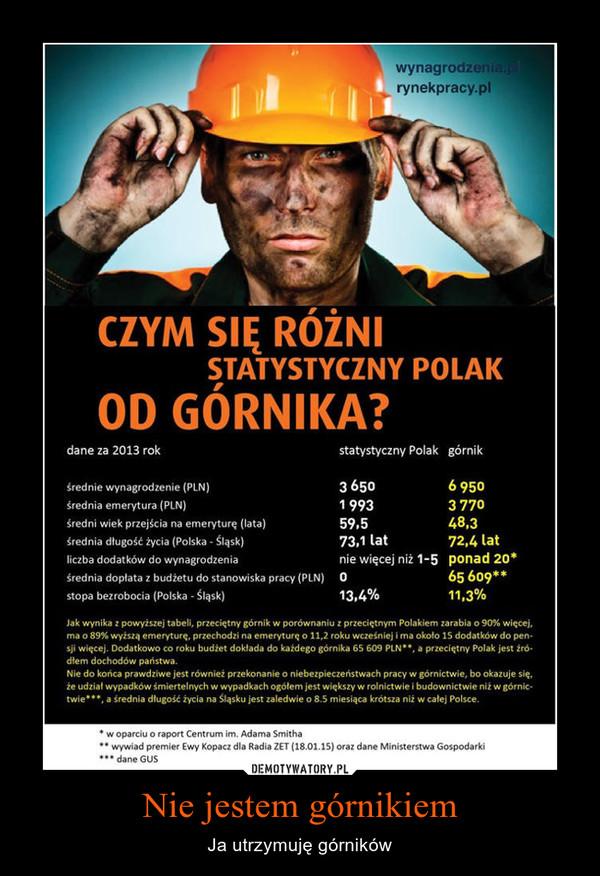 Nie jestem górnikiem – Ja utrzymuję górników