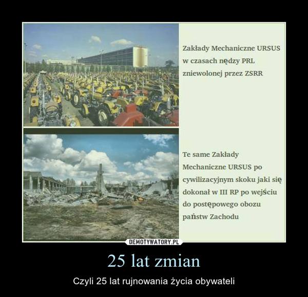 25 lat zmian – Czyli 25 lat rujnowania życia obywateli