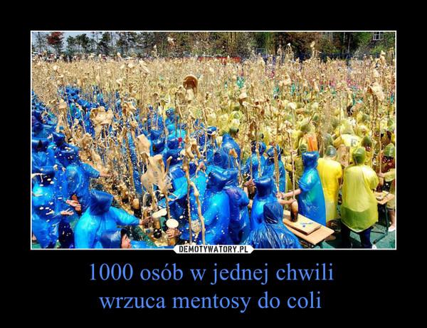 1000 osób w jednej chwili wrzuca mentosy do coli  –