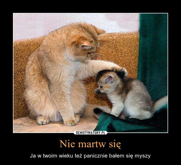 Nie martw się – Ja w twoim wieku też panicznie bałem się myszy
