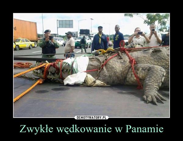 Zwykłe wędkowanie w Panamie –