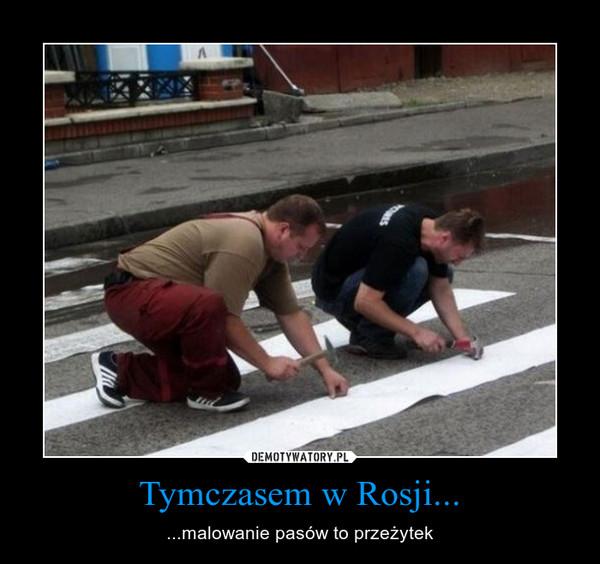 Tymczasem w Rosji... – ...malowanie pasów to przeżytek