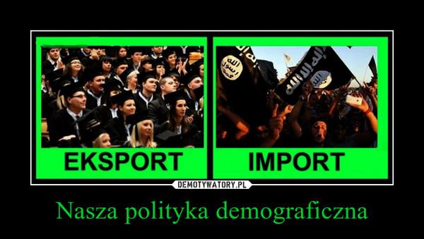Nasza polityka demograficzna –
