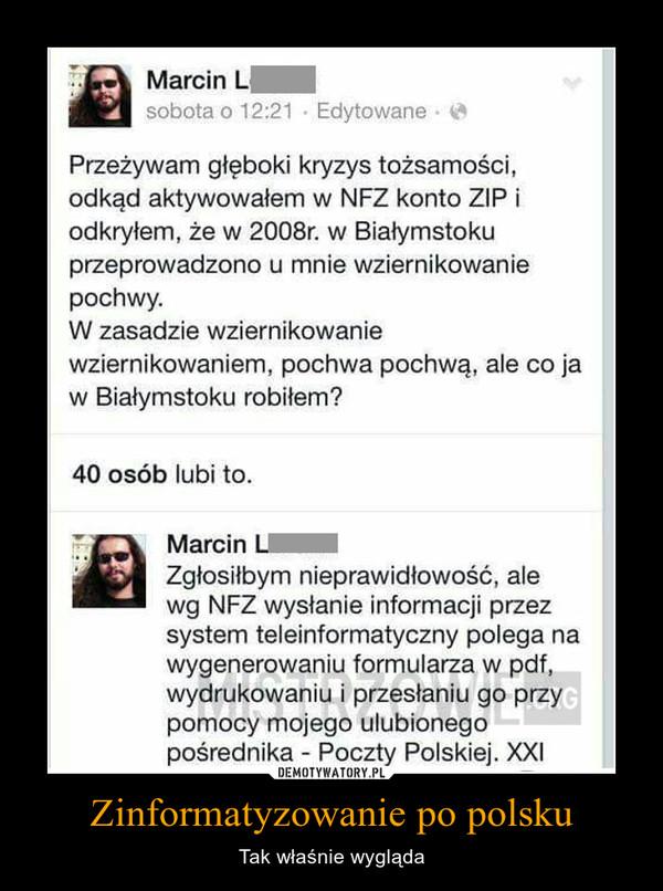 Zinformatyzowanie po polsku – Tak właśnie wygląda