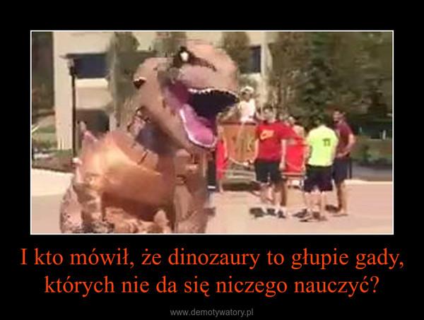 I kto mówił, że dinozaury to głupie gady, których nie da się niczego nauczyć? –
