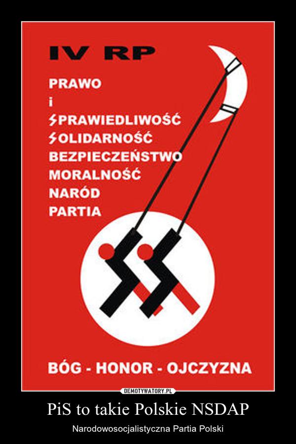PiS to takie Polskie NSDAP – Narodowosocjalistyczna Partia Polski