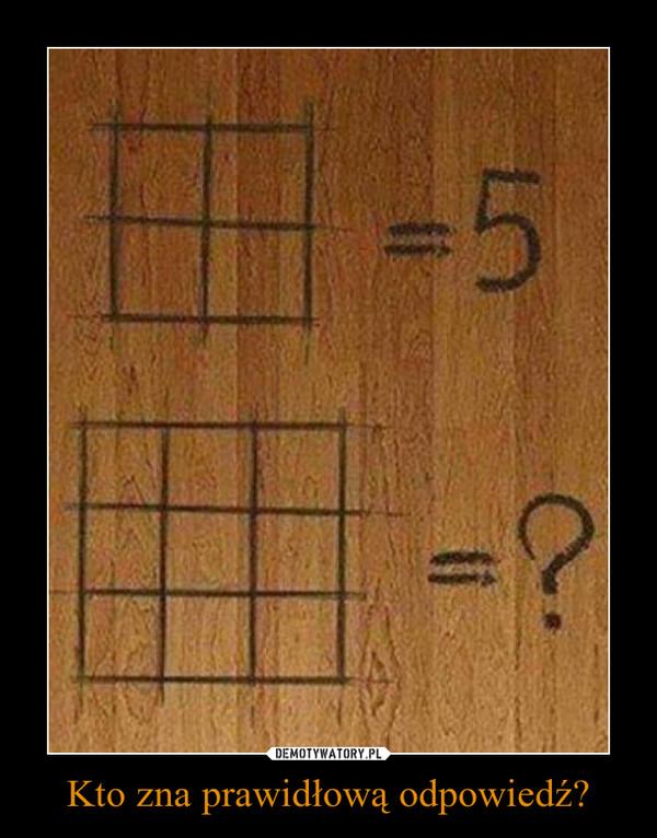 Kto zna prawidłową odpowiedź? –