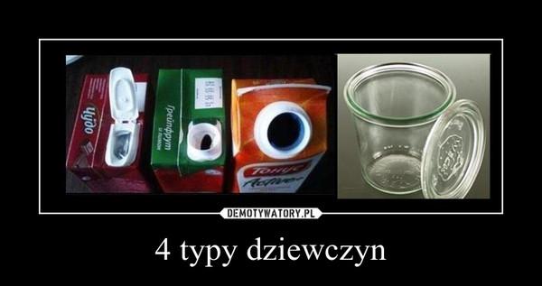 4 typy dziewczyn –