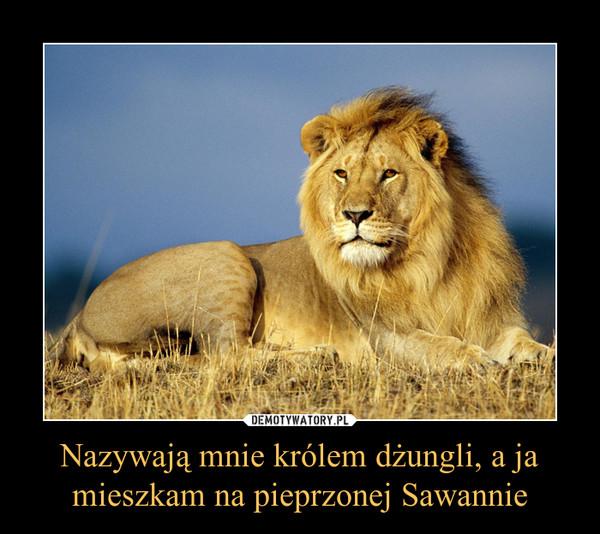 Nazywają mnie królem dżungli, a jamieszkam na pieprzonej Sawannie –