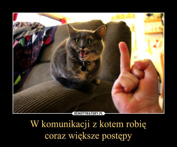 W komunikacji z kotem robięcoraz większe postępy –