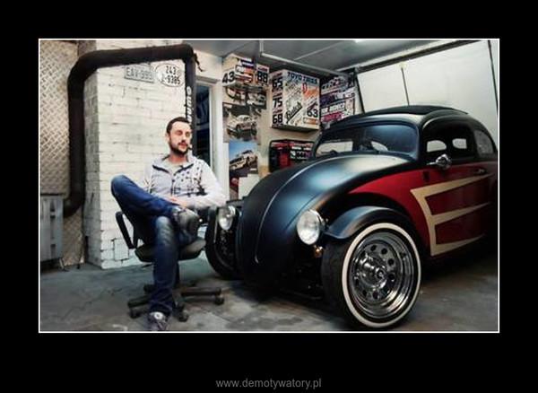 Garbus 65' Volksrod Hot Rod Custom – To jest surowy Hot Rod! Jest głośny, niewygodny, źle się prowadzi, zwraca uwagę!