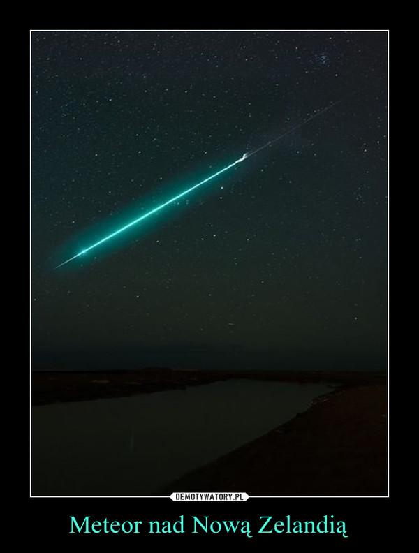 Meteor nad Nową Zelandią –