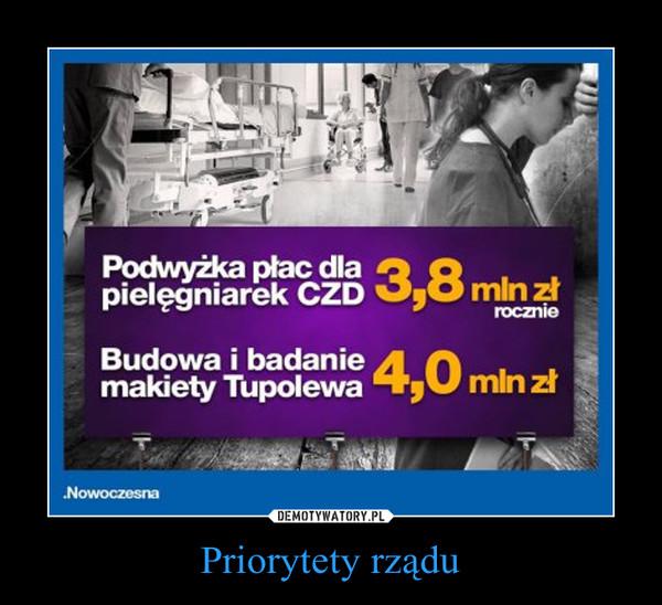Priorytety rządu –