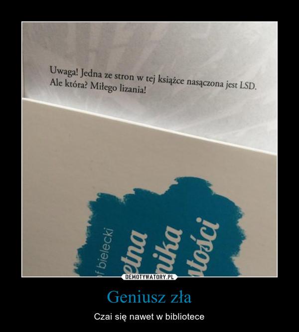 Geniusz zła – Czai się nawet w bibliotece