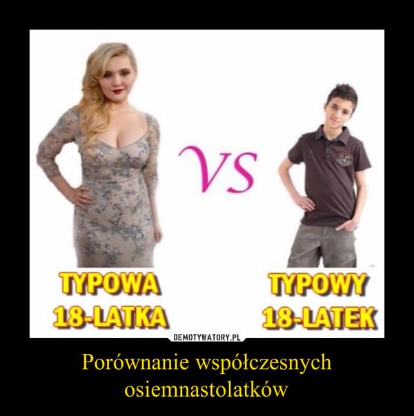 Porównanie współczesnych osiemnastolatków –  Typowa 18-latkaTypowy 18-latek