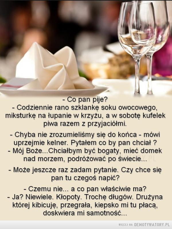 Dzień z życia kelnera –