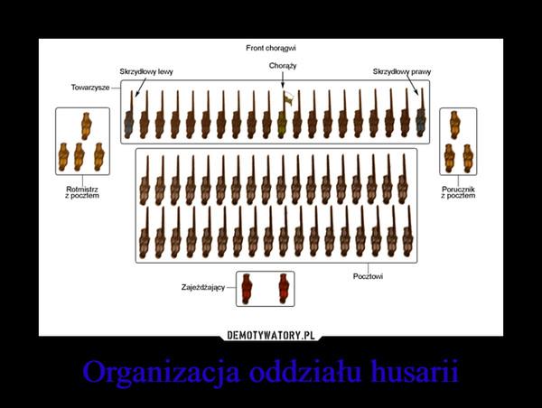Organizacja oddziału husarii –