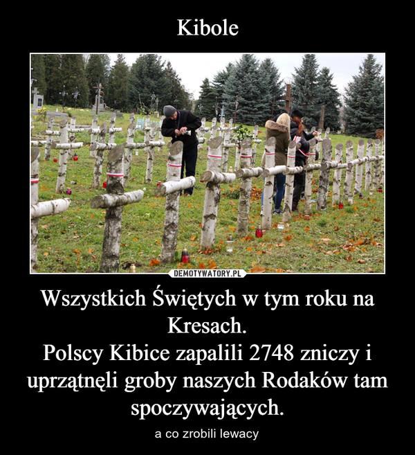 Wszystkich Świętych w tym roku na Kresach.Polscy Kibice zapalili 2748 zniczy i uprzątnęli groby naszych Rodaków tam spoczywających. – a co zrobili lewacy