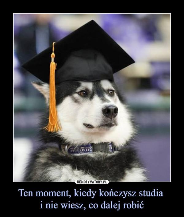 Ten moment, kiedy kończysz studia i nie wiesz, co dalej robić –