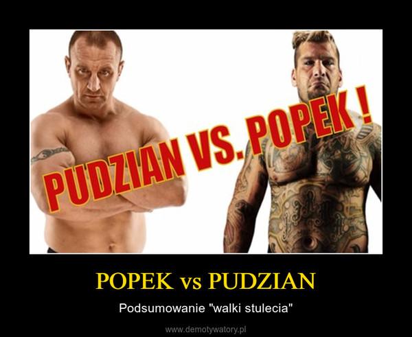 """POPEK vs PUDZIAN – Podsumowanie """"walki stulecia"""""""